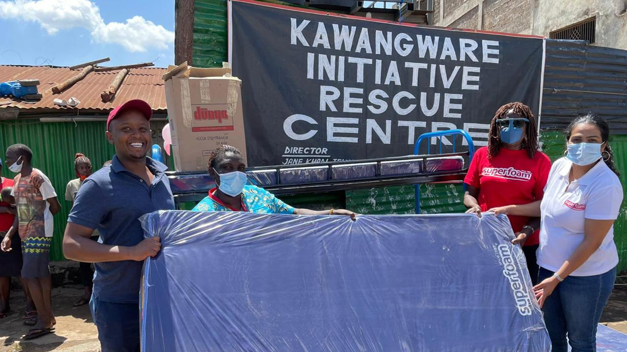 Superfoam Ltd Donates Mattresses to Kawangware Initiative Rescue Centre Towards Spreading Happiness During This Festive Season