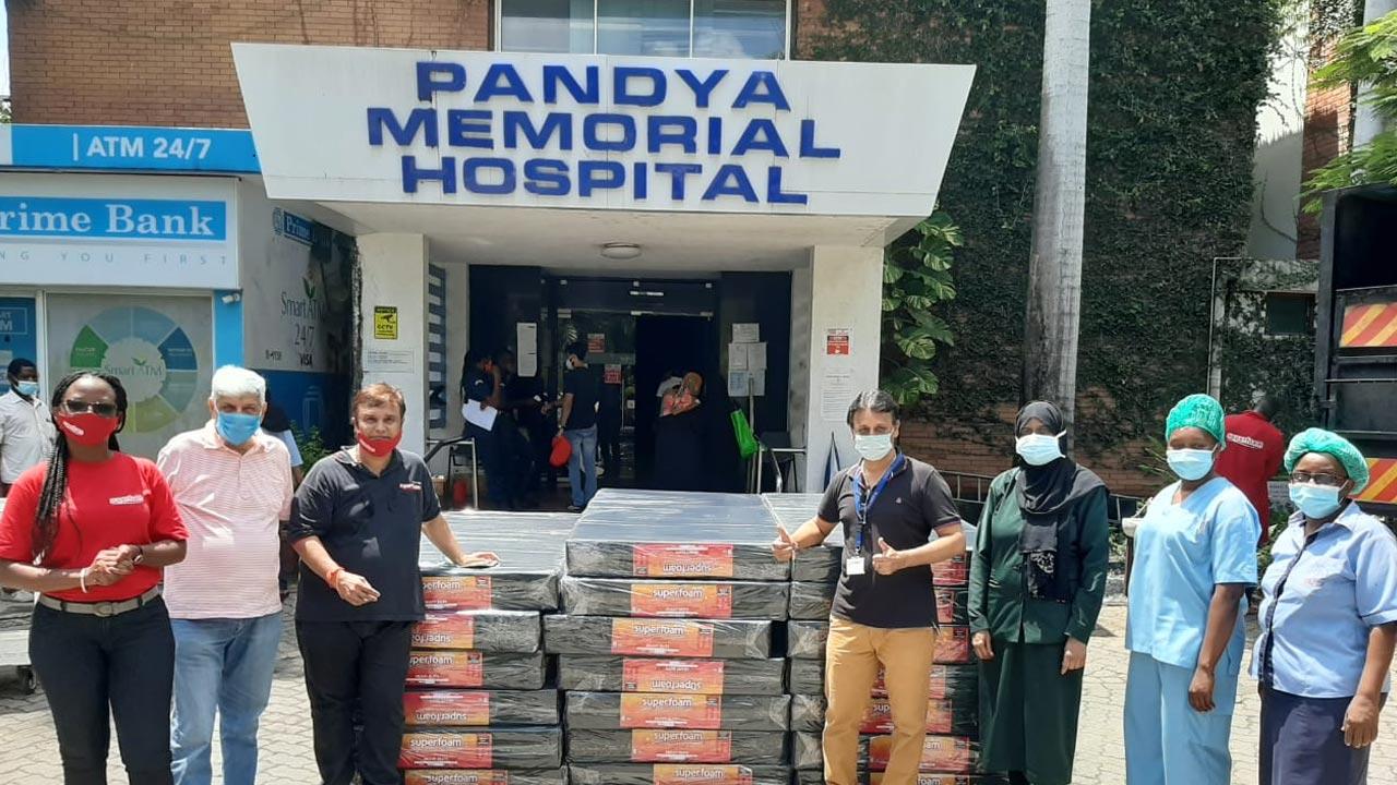 Superfoam Ltd Donates Hospital Mattresses To Pandya Memorial Hospital Mombasa